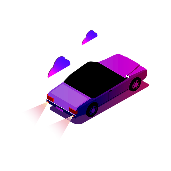 Purple Cartoon Car - Free PNG Images, Transparent Image Digital Download
