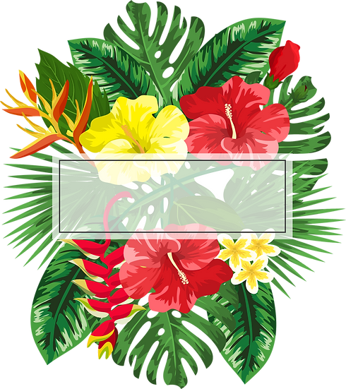 Tropical Bouquet Template Post Card Free PNG Images, Free Digital Image Download