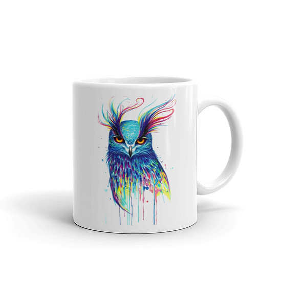 Watercolor Owl Coffee Cup Mug for Coffee / Tea White Ceramic Mugs 11/15 oz1