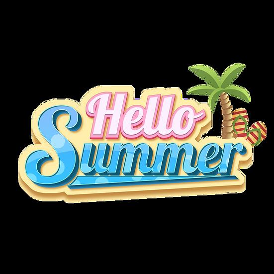 Hello Summer - Free PNG Images, Transparent Image Digital Download