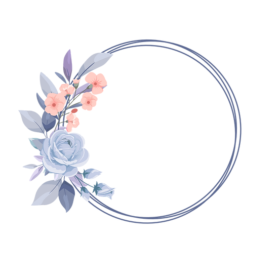 Beautiful Flowers in Circle - Free PNG Image, Transparent Image Instant Download