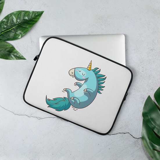 Awesome Blue Unicorn Laptop Sleeve for MacBook, HP, ACER, ASUS, Dell, Lenovo