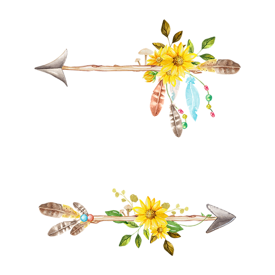 Arrows with Sunflowers - Free PNG Images, Transparent Image Digital Download