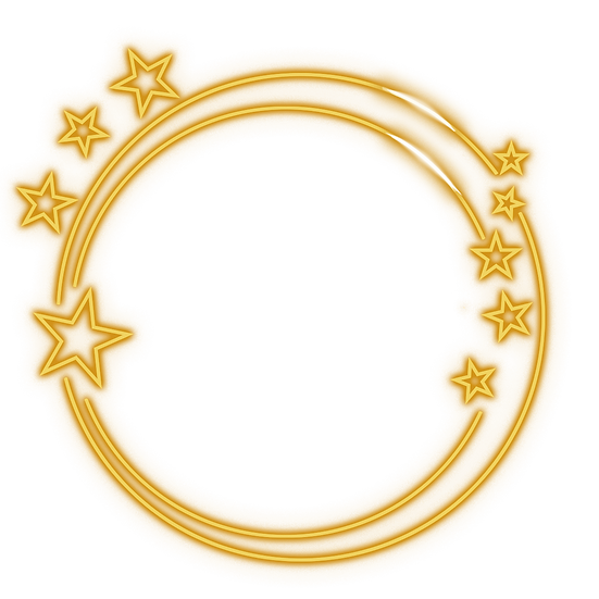 Double Circle with Stars - Free PNG Images, Transparent Image Instant Download