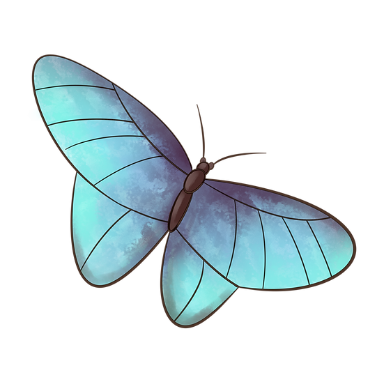 Blue Butterfly Clipart - Free PNG Images, Transparent Image Instant Download