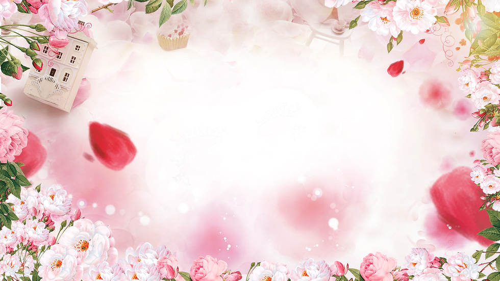Romantic Background with Flowers - Free PNG Images, Instant Download
