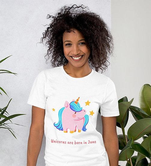 Unicorns are born in June Design Short-Sleeve Women's T-Shirt