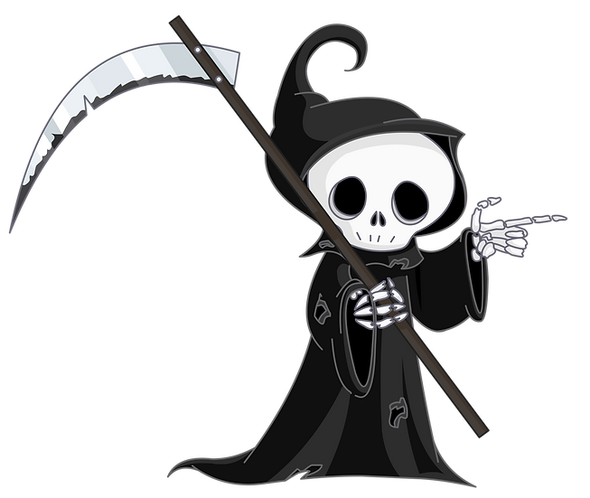 Funny Halloween Kid-Death Free PNG Images - Free Digital Image Download