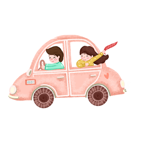 Couple Travelling by Car - Free PNG Images, Transparent Image Digital Download