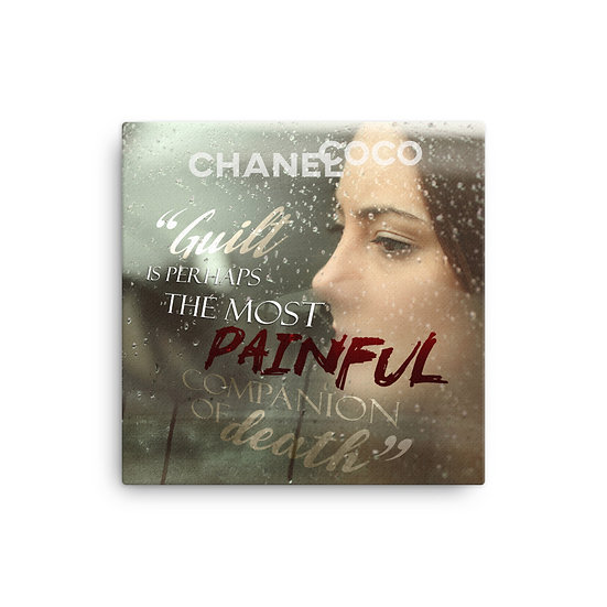 Coco Chanel Quotes Guilt Canvas Size 12x12, 16x16