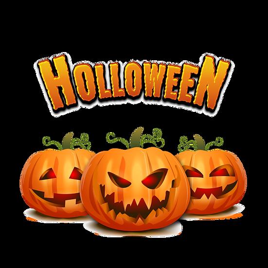 Happy Halloween Pumpkins  Printables PNG Image  - Editable / Downloadable