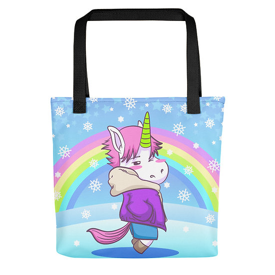 Unicorn and Rainbow Snow Tote bag