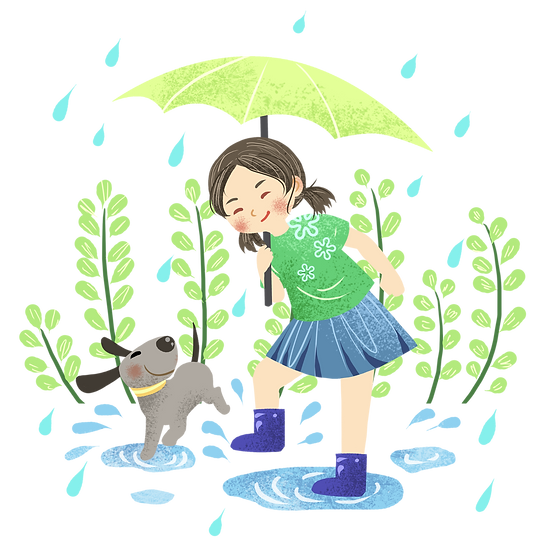 Summer Rainy Day Clipart - Free PNG Images, Transparent Image Digital Download