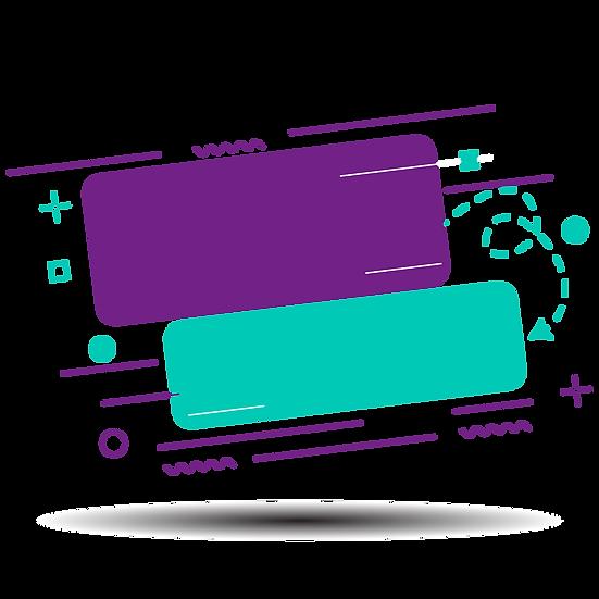 Purple and Green Banner - Free PNG Images, Transparent Image Digital Download