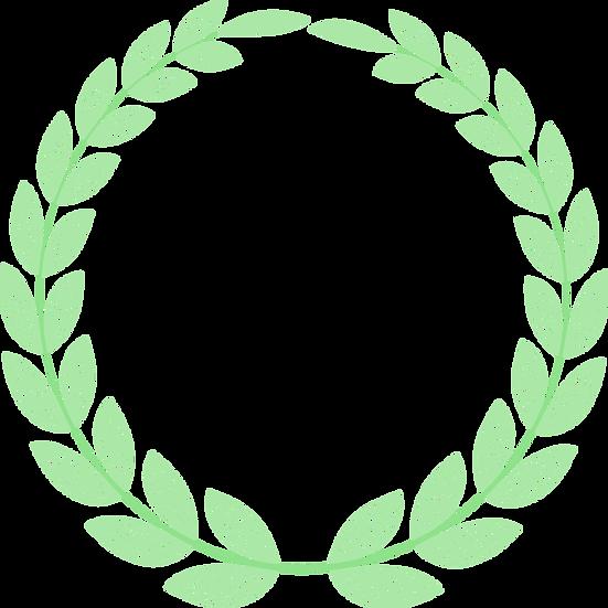 Line Leaf Circle - Free PNG Images, Transparent Image Digital Download