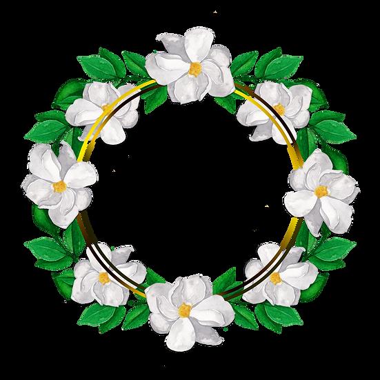 Flower Circle Border - Free PNG Images, Transparent Image Digital Download