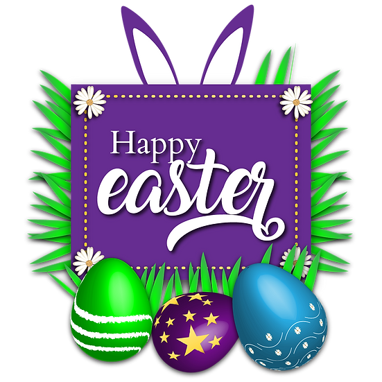 Happy Easter Amazing Greeting Card - Easter Transparent Image - Instant Download