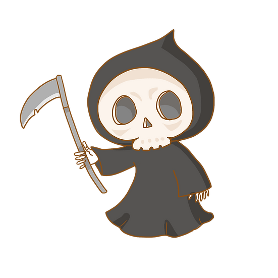 Halloween Ghost Death Printables PNG Image  - Editable / Downloadable