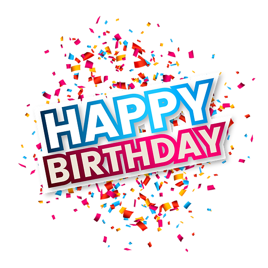 Awesome Birthday Greeting Card with Confetti - PNG Image - Digital Download