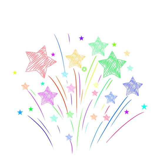 Colorful Hand Painted Stars - Free PNG Image, Transparent Image Digital Download