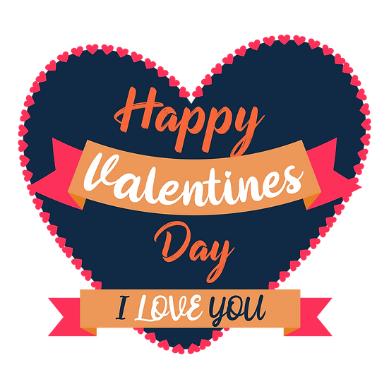 Happy Valentine's Day, I Love You Greeting Card - PNG Image - Instant Download