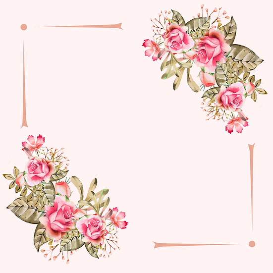 Watercolor Background with Flowers - Free PNG Images, Digital Download