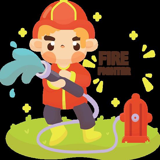 Firefighter Design - Free PNG Fire Images, Transparent Image Digital Download