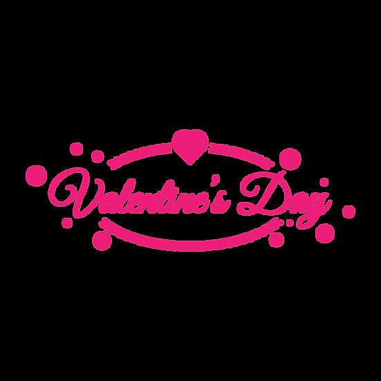 Valentine's Day Pink Inscription - PNG Transparent Image - Instant Download
