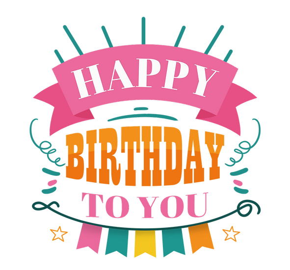 Happy Birthday Marvelous Greeting Card - Transparent Image - Digital Download