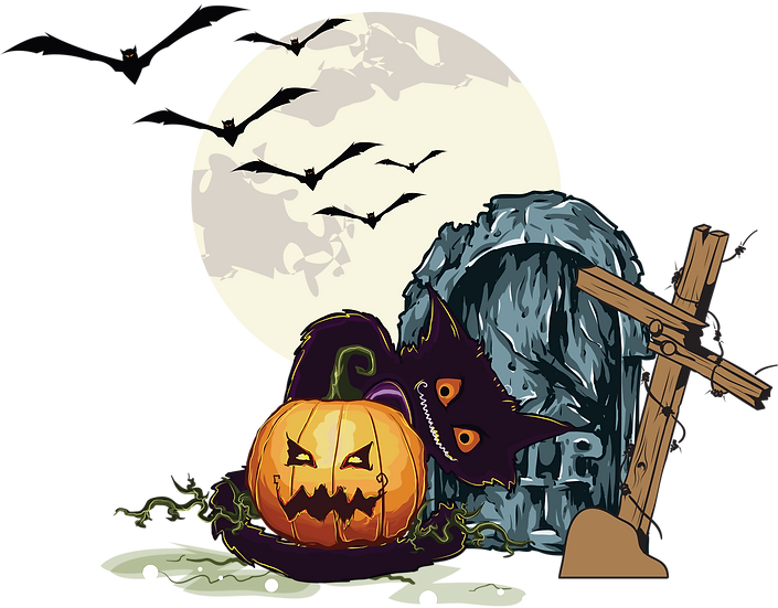 Halloween Pumpkin with Cat Free PNG Images - Free Digital Image Download