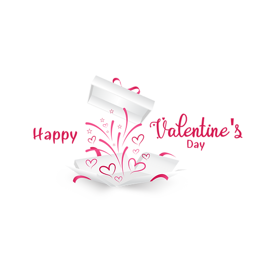 Happy Valentine's Day Amazing Clipart - PNG Transparent Image - Instant Download
