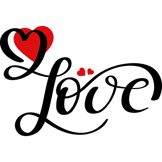 Love - Awesome Clipart - Valentine's Day Transparent Image - Instant Download