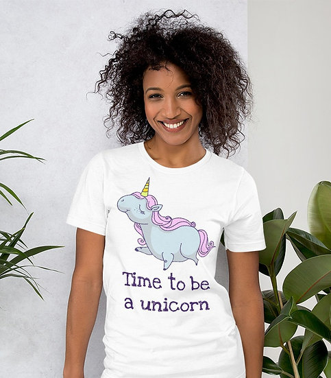Time to Be a Unicorn Design Short-Sleeve Women's T-Shirt