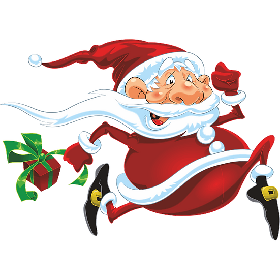 Santa in a Hurry for Christmas Free PNG Images - Free Digital Image Download