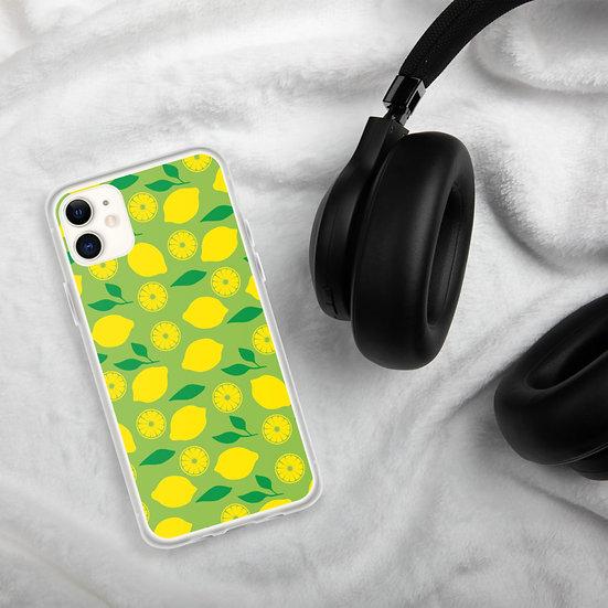 Lemon Pattern iPhone Cases1