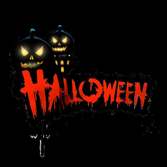 Halloween Inscription Printables PNG Image  - Editable / Downloadable