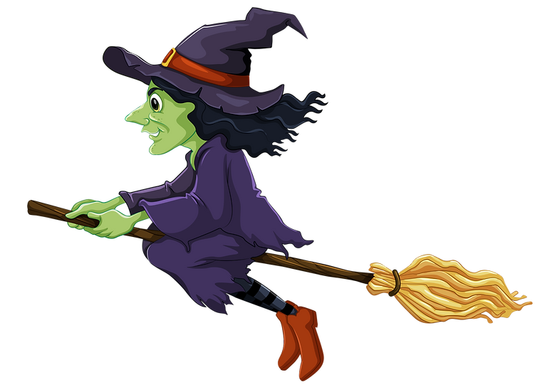 Halloween Flying Witch Free PNG Images - Free Digital Image Download