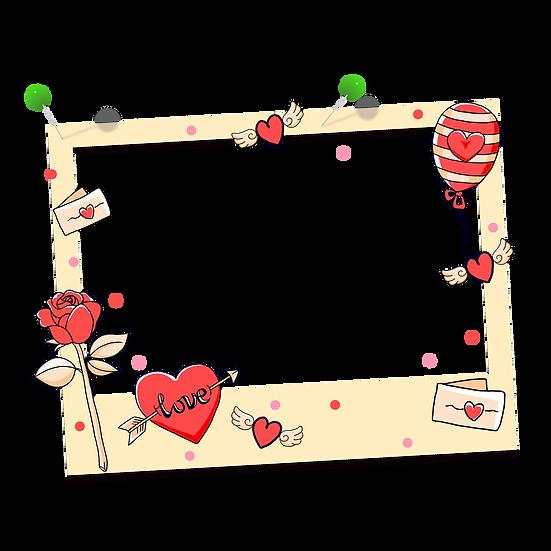 Photo Frame - Valentine's Day PNG Transparent Image - Instant Download