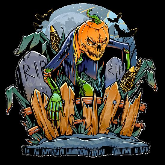 Halloween Horrible Pumpkin Printables PNG Image  - Editable / Downloadable