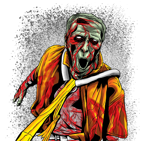 Halloween Zombie Printables PNG Image  - Editable / Downloadable