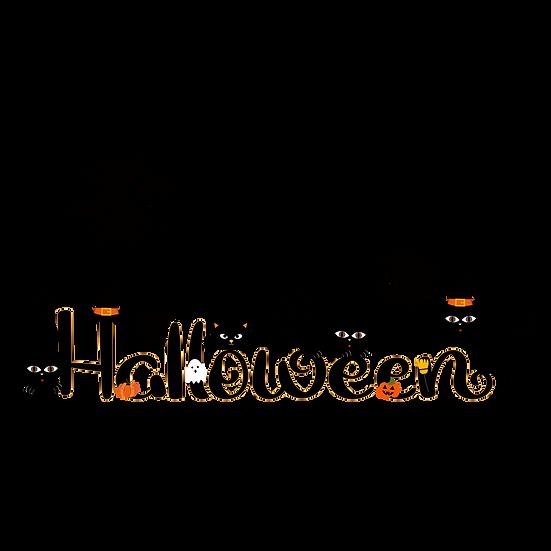 Happy Halloween Black Cats Printables PNG Image  - Editable / Downloadable