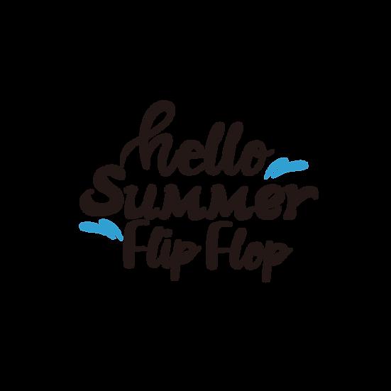 Hello Summer Flip Flop - Free PNG Images, Transparent Image Instant Download