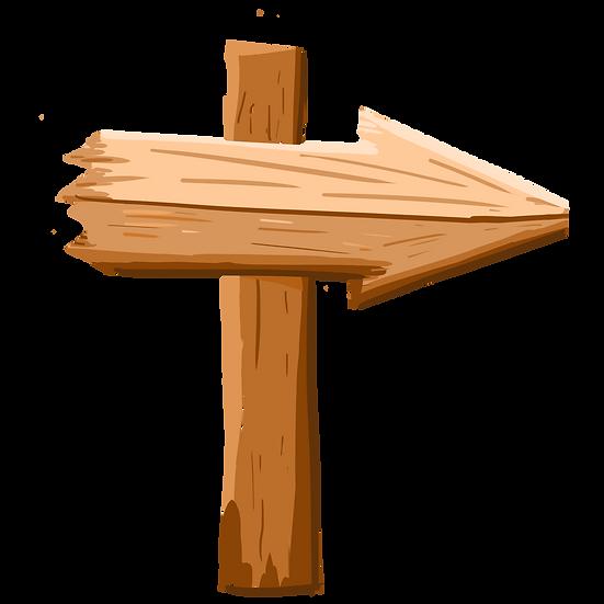 Wooden Arrow Illustration - Free PNG Images, Transparent Image Digital Download