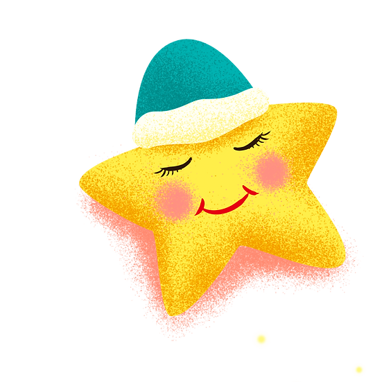 Sleeping Yellow Star - Free PNG Images, Transparent Image Digital Download