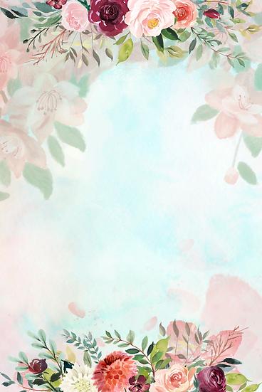 Flower Frame Background - Free PNG Images, Digital Download