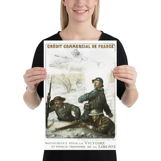 "WW1 Great War French Propaganda Poster ""Crédit Commercial de France"""