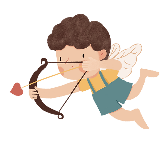 Cupid with Bow and Arrow - Valentine's Day Transparent Image - Instant Download
