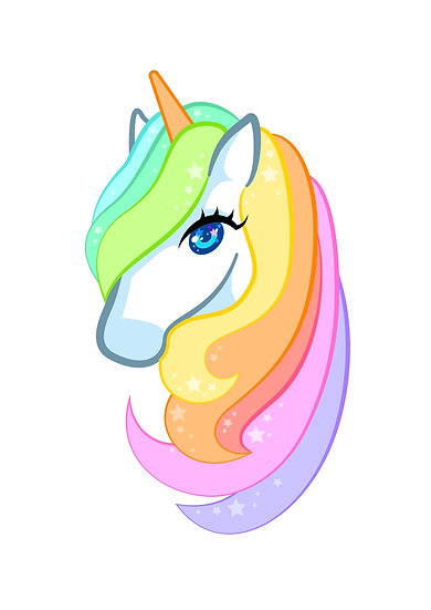 Rainbow Unicorn Digital Files SVG, PNG, DXF, AI, EPS, JPEG for Silhouette Cricut