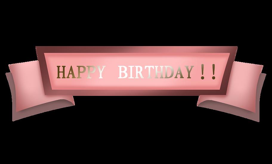 Happy Birthday Gold Inscription - PNG Transparent Image - Digital Download
