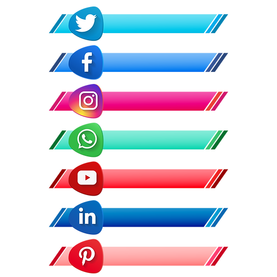 Social Media Logo Banner - Free PNG Images, Transparent Image Digital Download